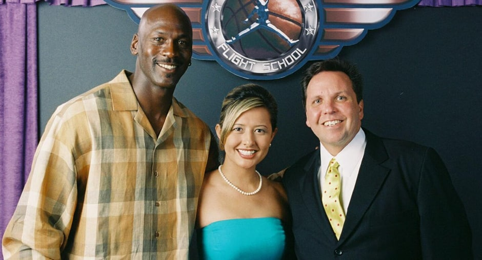 Don And His Wife Jeanette With Michael Jordan