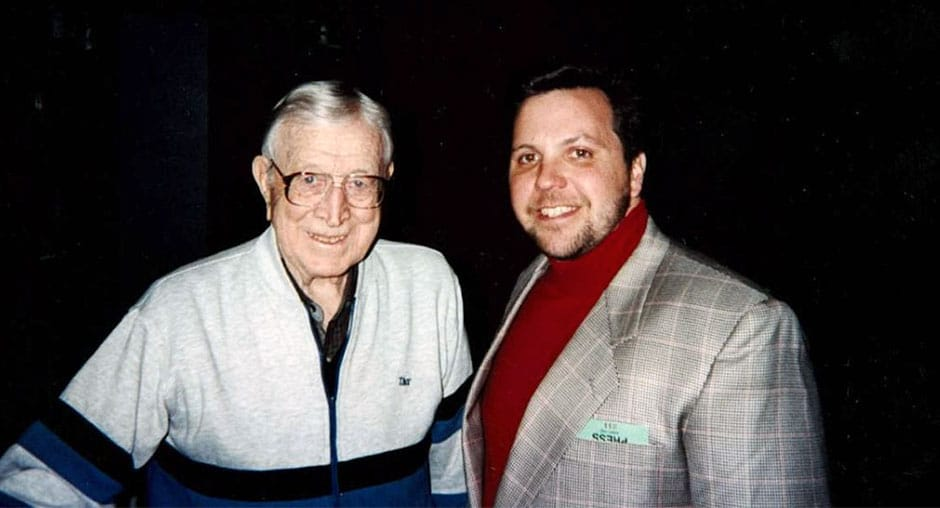 Don With John Wooden