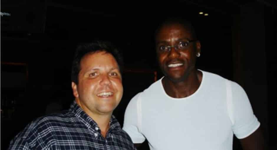 Don With Carl Lewis